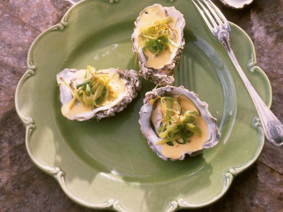 Oysters with Aromatic Sabayon