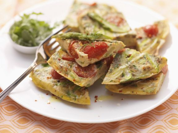 Paleo Asparagus and Tomato Omelette