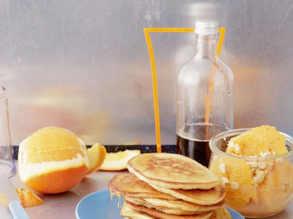 Pancake Stack with Citrus Fruit