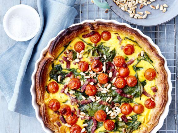 Pancetta and Egg Tart