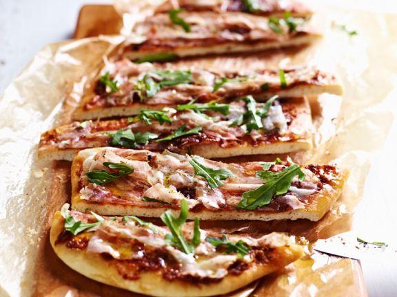 Pancetta and Tomato Pizza