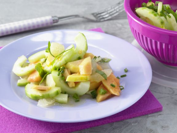 Papaya Salad with Cucumber
