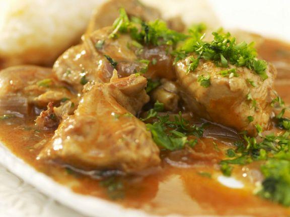 Paprika Chicken Stew with Dumplings