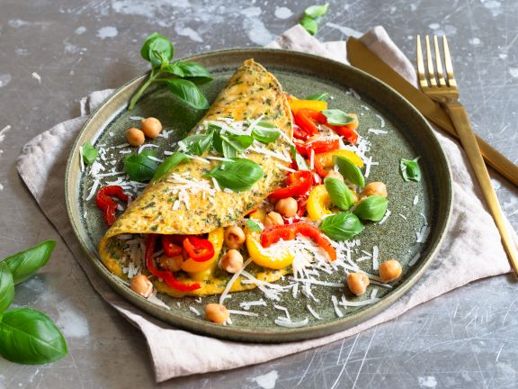 Paprika Omelette with Herbs