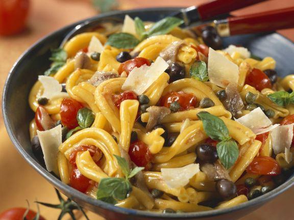 Parmesan and Anchovy Pasta Salad