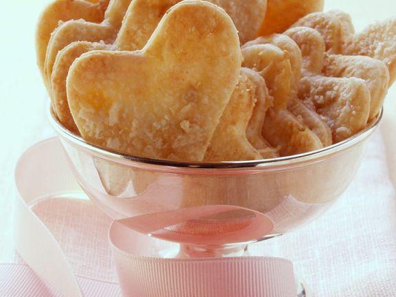 Parmesan Heart Crackers