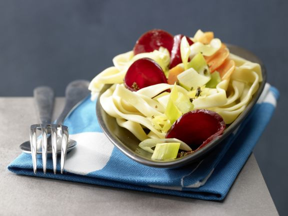 Pasta Nests with Beets