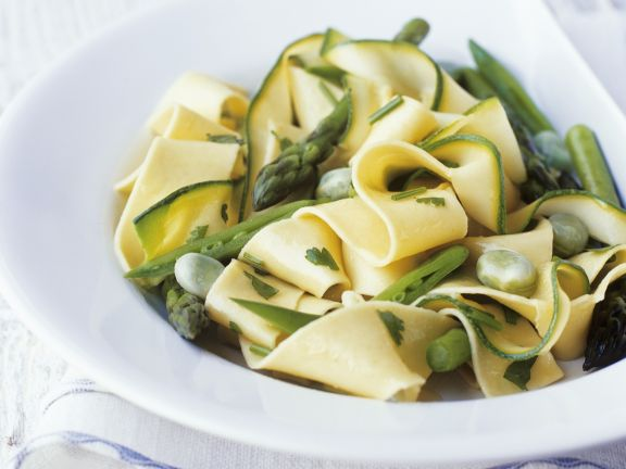 Pasta Ribbons with Green Vegetables