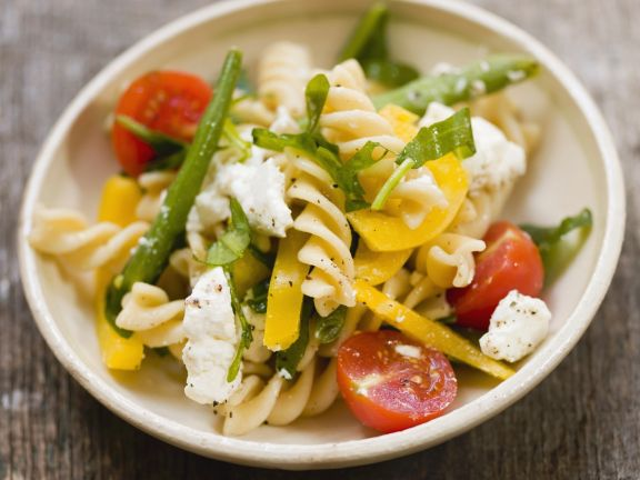 Pasta Salad with Beans, Feta and Tomatoes