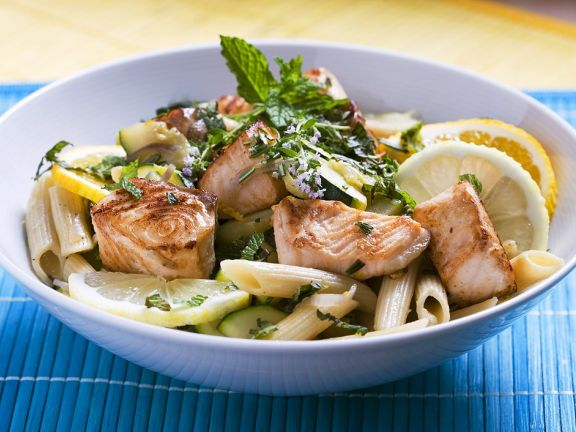 Pasta Salad with Salmon, Herbs and Lemon