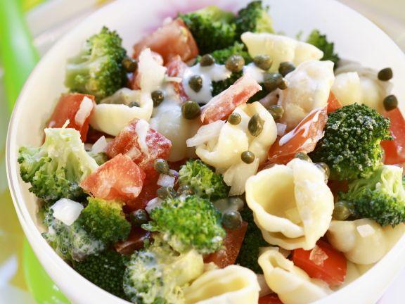 Conchiglie, Broccoli and Tomato Salad