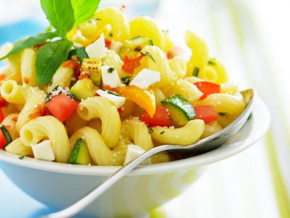 Pasta Salad with Vegetables and Feta