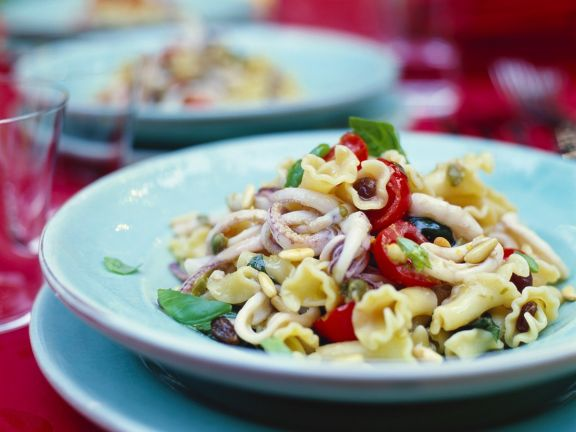 Pasta with Cuttlefish and Garlicky Caper Sauce