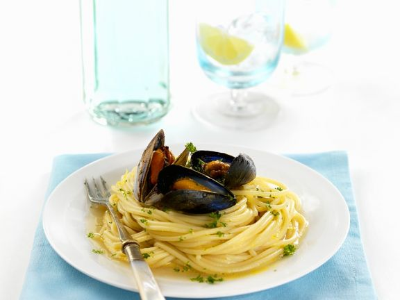 Pasta with Mussels and Clams