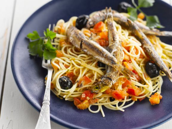Pasta with Olives and Anchovies