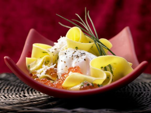 Pasta with Poached Egg