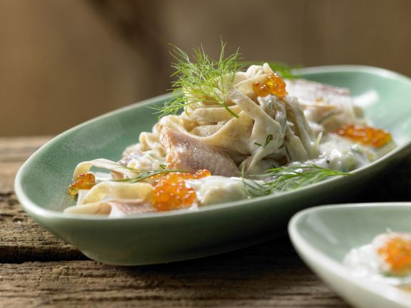 Pasta with Smoked Trout