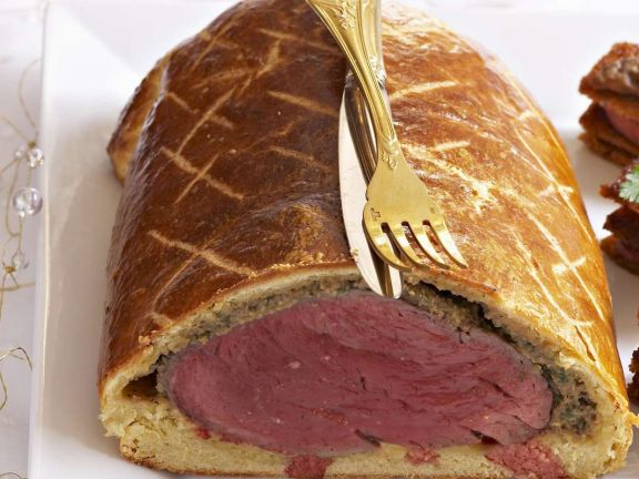Pastry Wrapped Beef Fillet