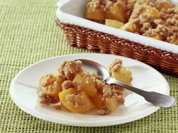 Peach and Cinnamon Crumble