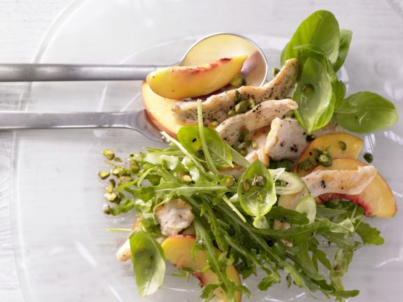 Peach-Arugula Salad