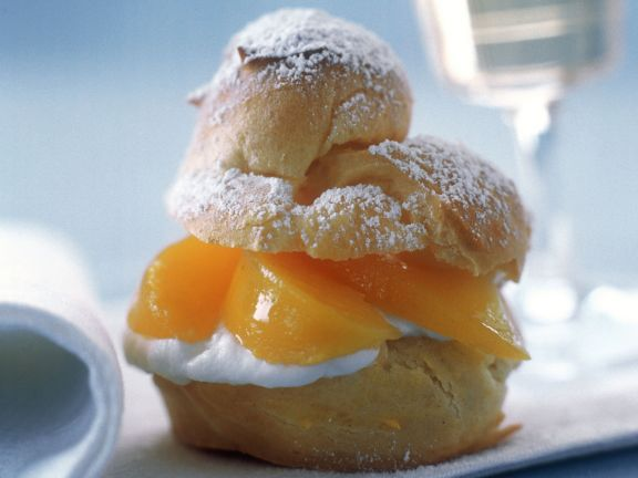 Peach Choux Buns