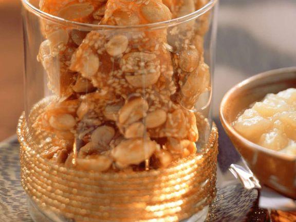 Peanut-Sesame Brittle
