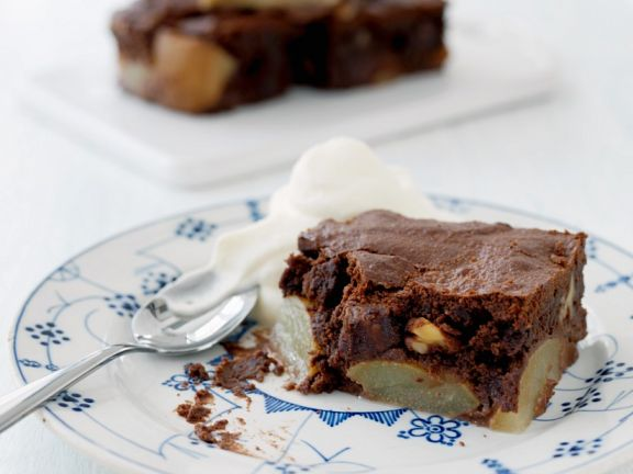 Pear Chocolate Cake with Walnuts