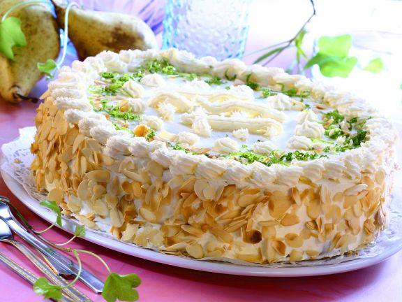 Pear Cream Cake