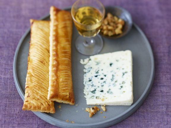 Pear Pastry with Roquefort and Black Pepper Walnuts