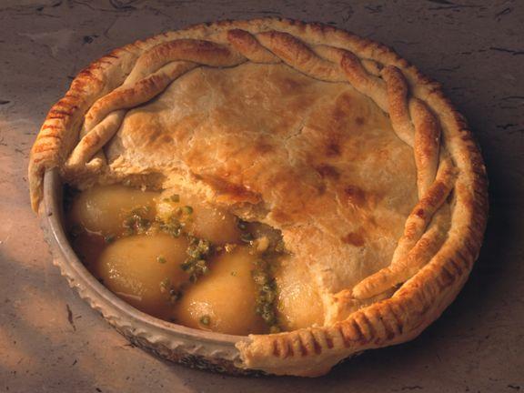 Pear-Pistachio Pie
