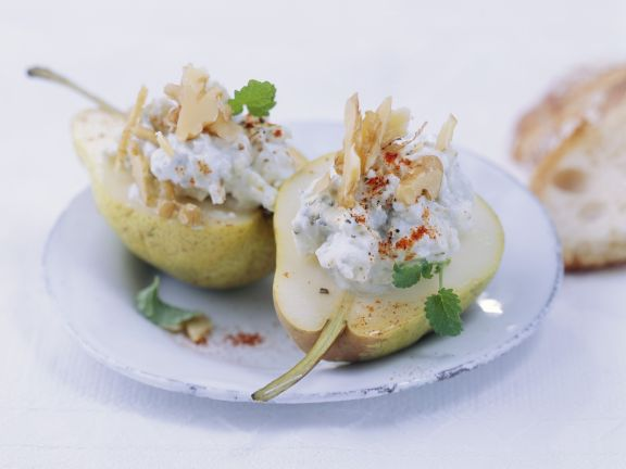 Pears with Blue Cheese Stuffing
