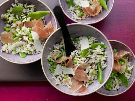 Peas and Rice with Prosciutto