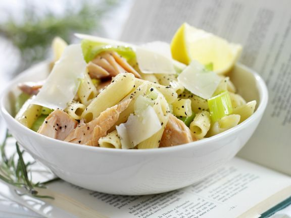 Penne and Salmon Bowl