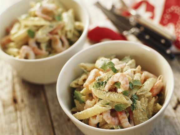 Penne with Prawns
