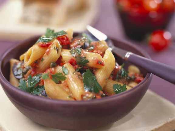 Penne with Tomato and Capers