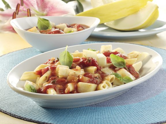 Penne with Tomato Melon Sauce