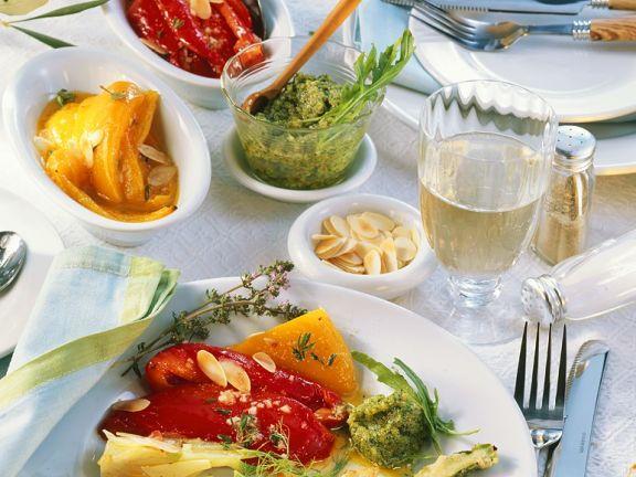 Pepper, Fennel and Zucchini Antipasti