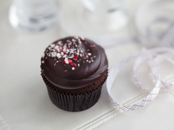 Peppermint Candy Chocolate Cupcakes