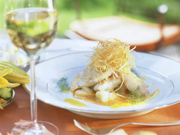 Perch Fillet with Ginger, Cucumber and Cabbage