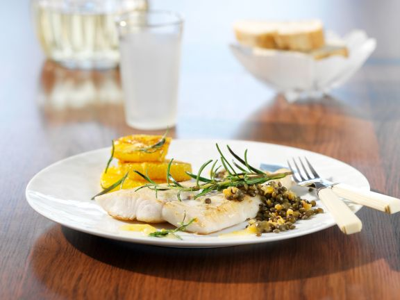 Perch Fillets with Lentils and Oranges