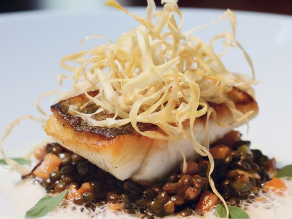 Perch with Lentils