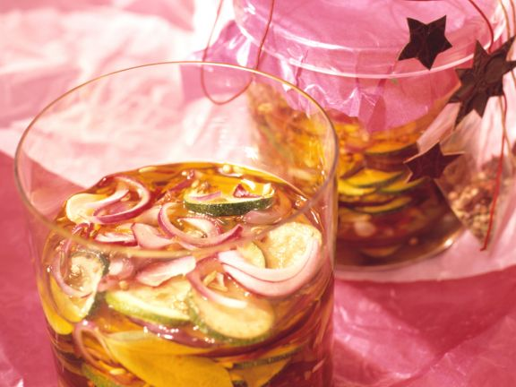 Pickled Zucchini and Onions