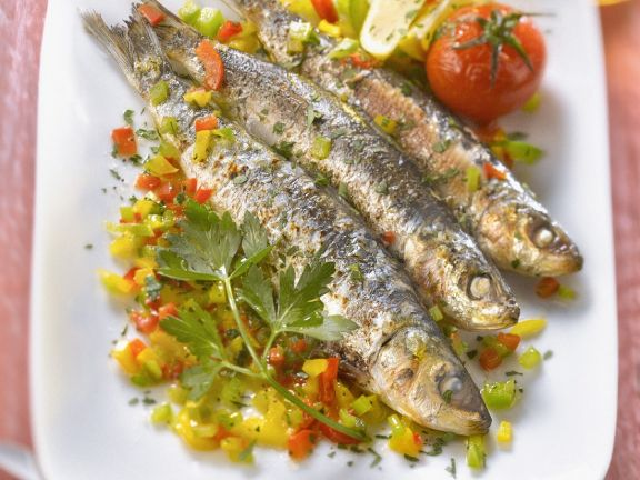 Pilchards with Chopped Capsicum