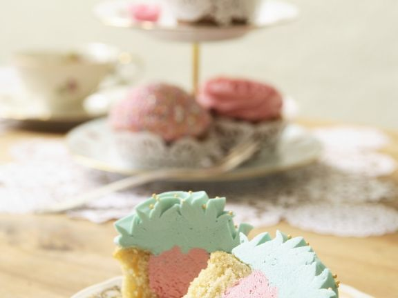 Pink and Blue Muffins