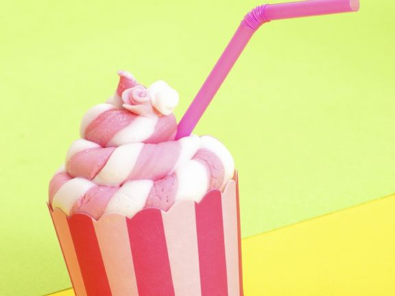 Pink and White Striped Muffins