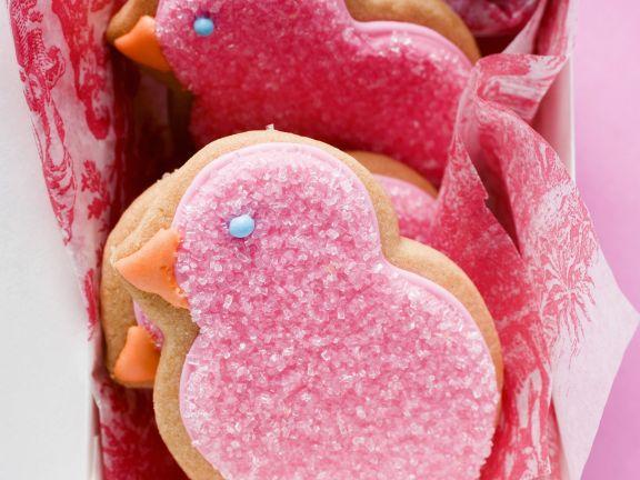 Pink Birdie Biscuits