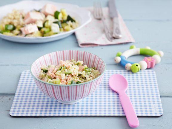 Pink Fish and Grain Salad