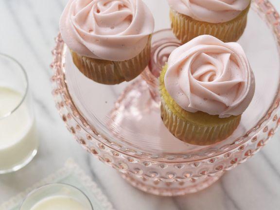 Pink Flower Mini Muffins