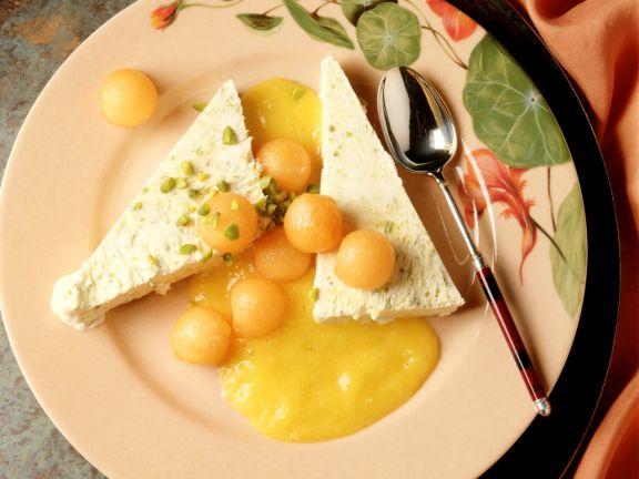Pistachio Parfait with Apricots