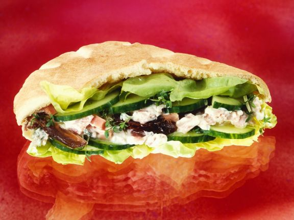 Pita Bread with Ham Salad